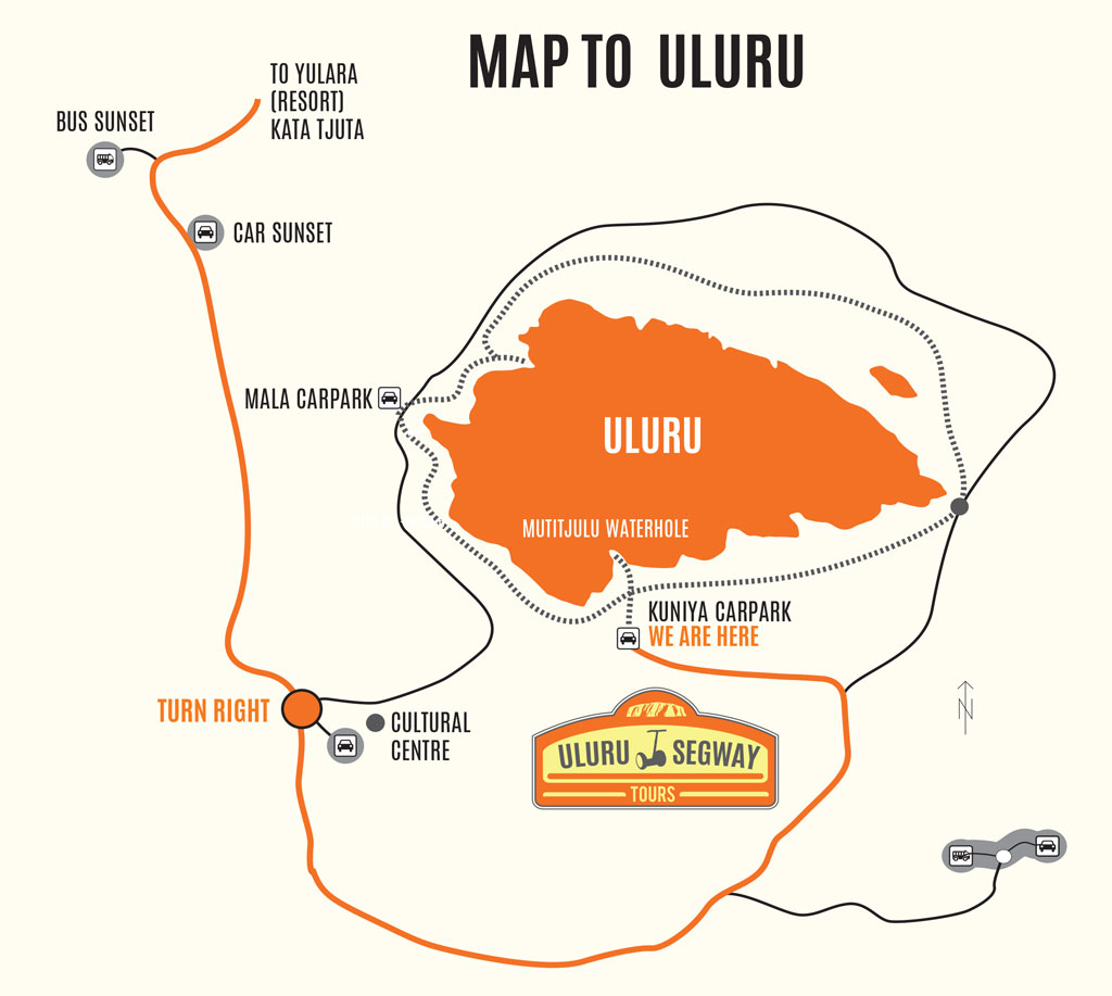 Uluru Segway Tours Map