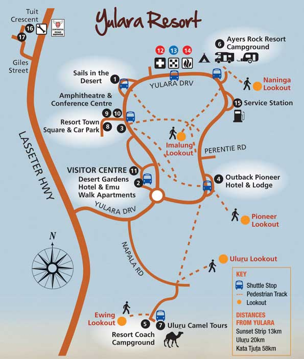 Our Location at Uluru Ayers Rock - just outside of Yulara Resort